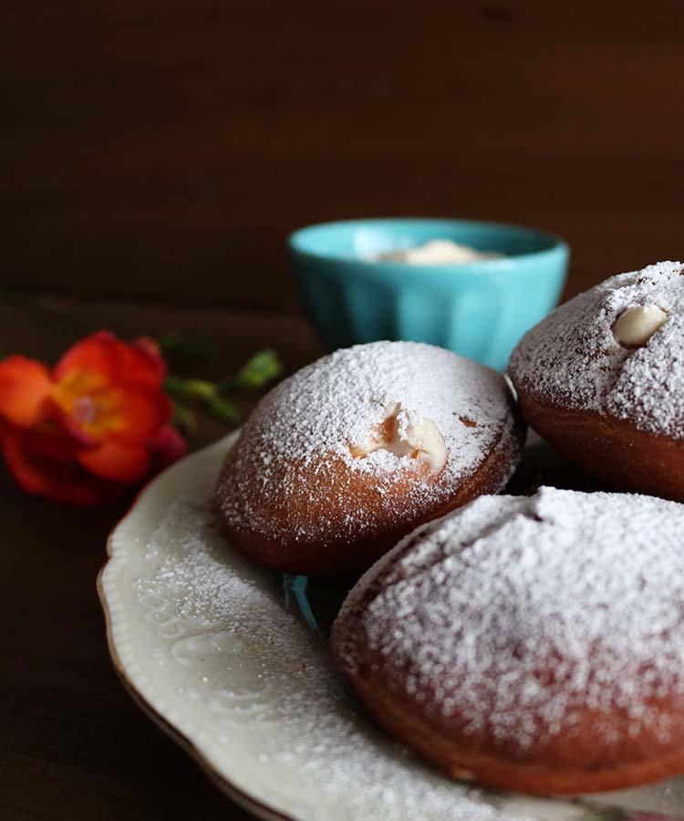 Krapfen con crema alle mele, ricetta per la merenda dolce per gli alunni della scuola secondaria di I grado | Homework & Muffin