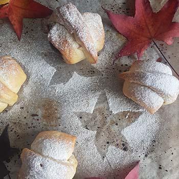 Brioche con castagne e noci per la merenda dolce degli studenti della Scuola Secondaria di I grado | Homework & Muffin
